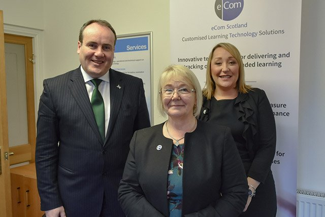 Scottish Government Minister discusses  workforce innovation with eCom Scotland