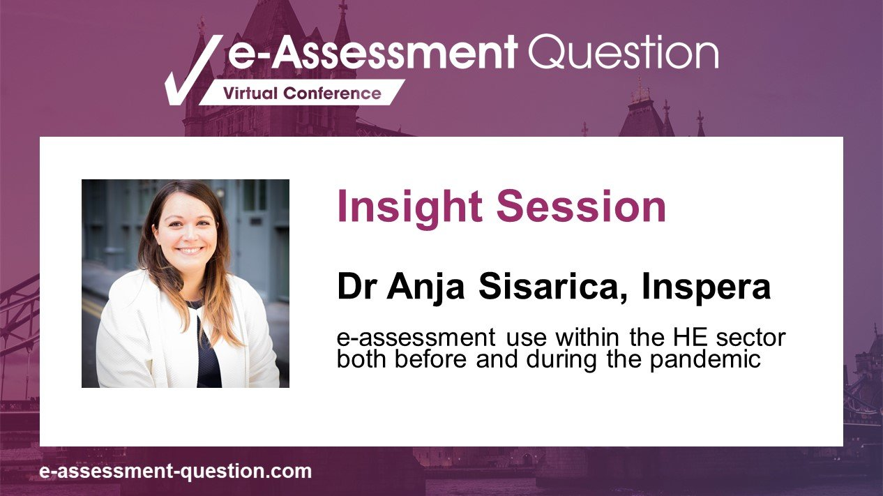 e-Assessment Association pre-conference Insight Session with Dr Anja Sisarica