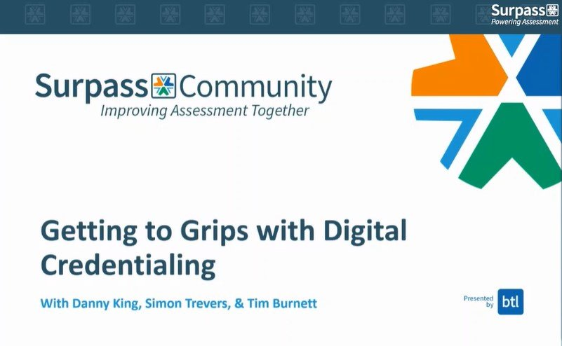 Digital Credentialing Webinar