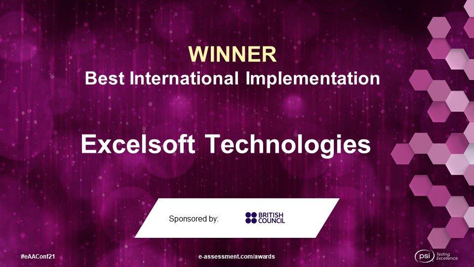 Winner of the 2021 International e-Assessment Awards