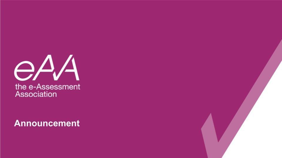 eAA Announcement